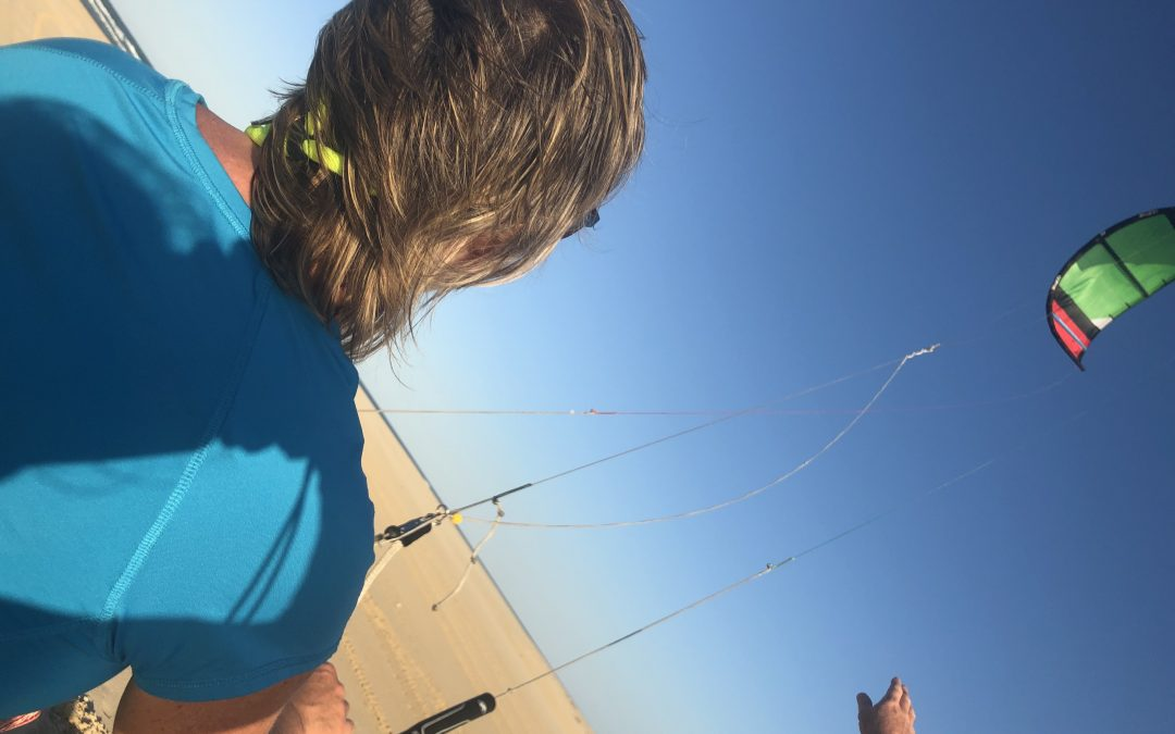 Learning to kite surf on a three day camp beach safari in Australia