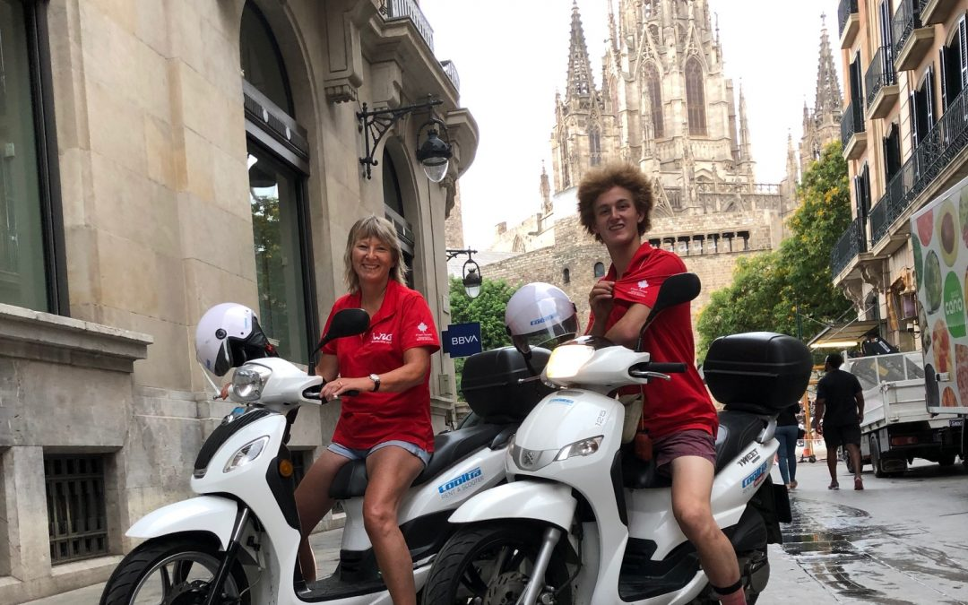 Tour Barcelona by scooter