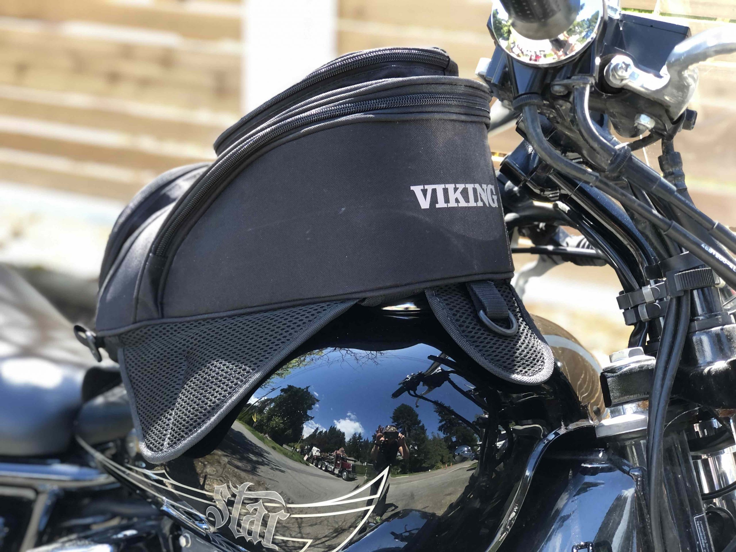 Viking Bags survival Series motorcycle tank bag review - Carry On Queen